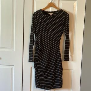 Banana Republic Black and White Stripped Dress